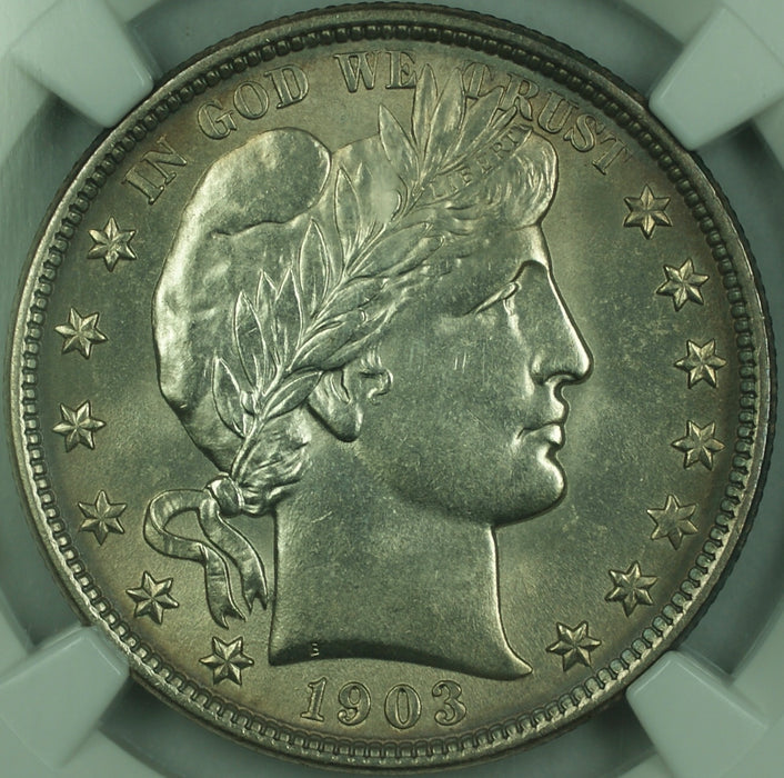 1903 Barber Silver Half Dollar 50c, NGC UNC Details, Very Choice BU