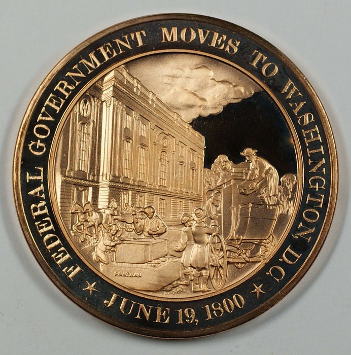 History of the U.S. Federal Government Moves to D.C. (1800) Proof Bronze Medal