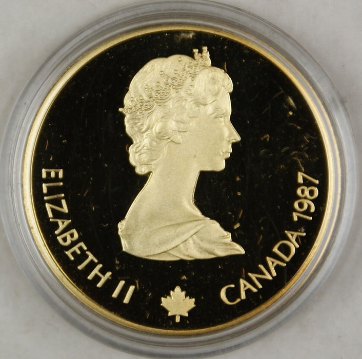 1987 Canada $100 Dollar Proof Gold Coin, 1988 Calgary Olympics, In Box w/ COA