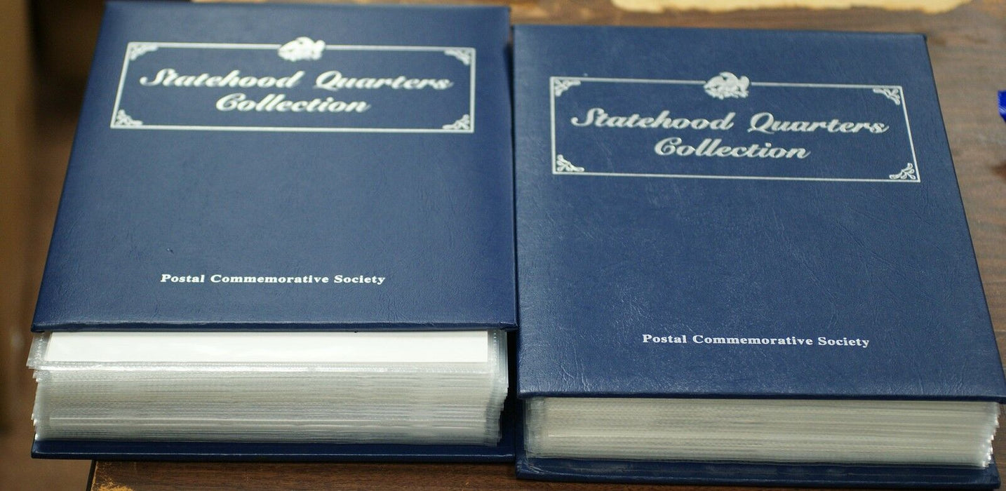 PCS Complete Statehood Quarter Collection 100 BU Coins Total P&D Mint w Stamps