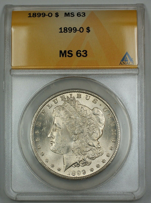 1899-O Morgan Silver Dollar $1 ANACS MS-63 AKR