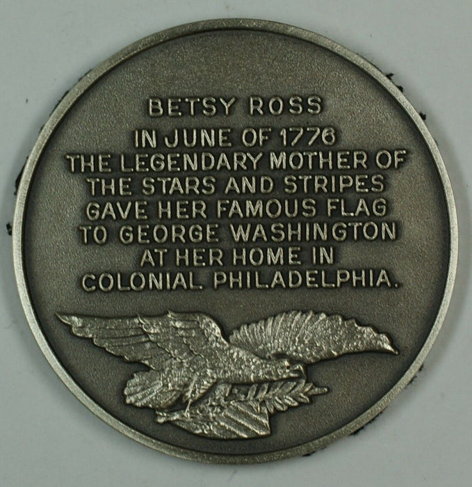 Betsy Ross and the Flag Sterling Silver Medal