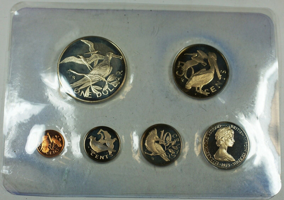 1973 Franklin Mint Virgin Islands Proof Set with Sterling Silver .925 1$ Coin