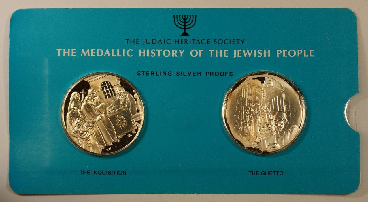 The Inquisition & The Ghetto 1oz Silver Medal-History of the Jewish People-44