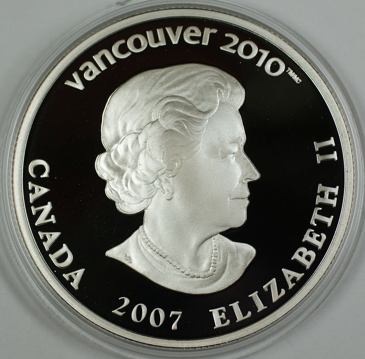 2007 Canada $25 Silver Holographic Proof Coin- Curling -2010 Vancouver-COA