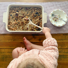 Cooking with Toddlers. Cooking with Kids. Baking with Toddlers. Baking with Kids. Toddler Recipes. Kid Recipes. Granola Recipe. Healthy Granola Recipe