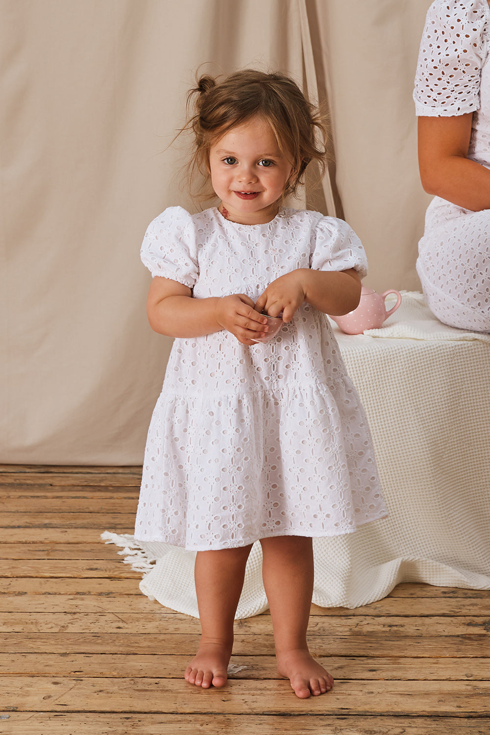Grace Girls Cotton Broderie Dress