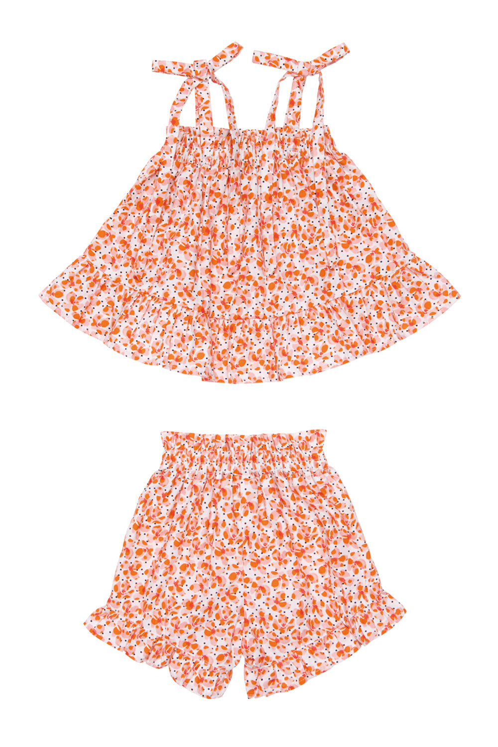 Nikki Girls Floral Top and Short Set