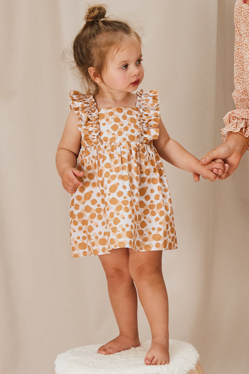 Hollie Girls Spotted Frill Dress