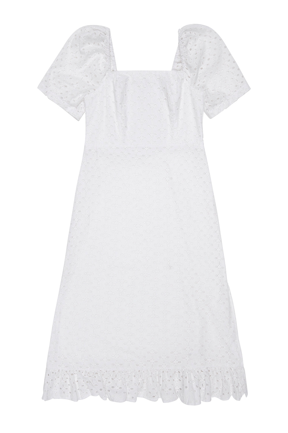 Ruth Cotton Broderie Midi Dress