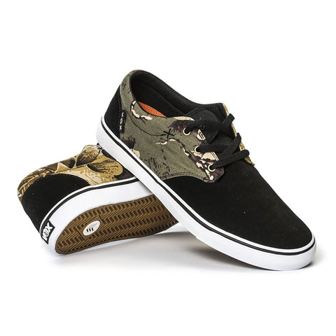 CROOK - Black/Woodland Camo