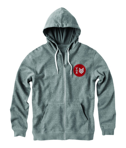 Certified (ZIP UP) Gray Hoodie