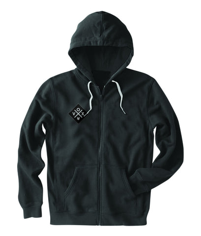 X-Patch (ZIP UP) Black Hoodie