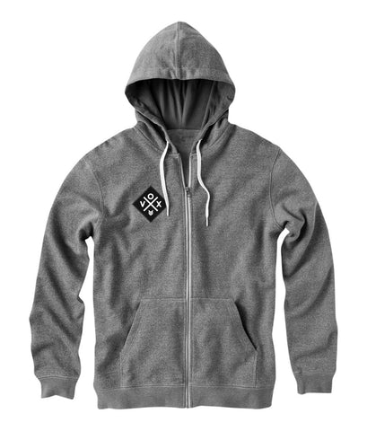 X-Patch (ZIP UP) Gray Hoodie
