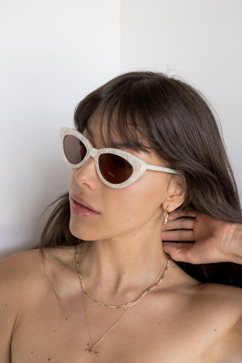 The Harley, Pearl - Women's Sunglasses & Eyewear by Luv Lou
