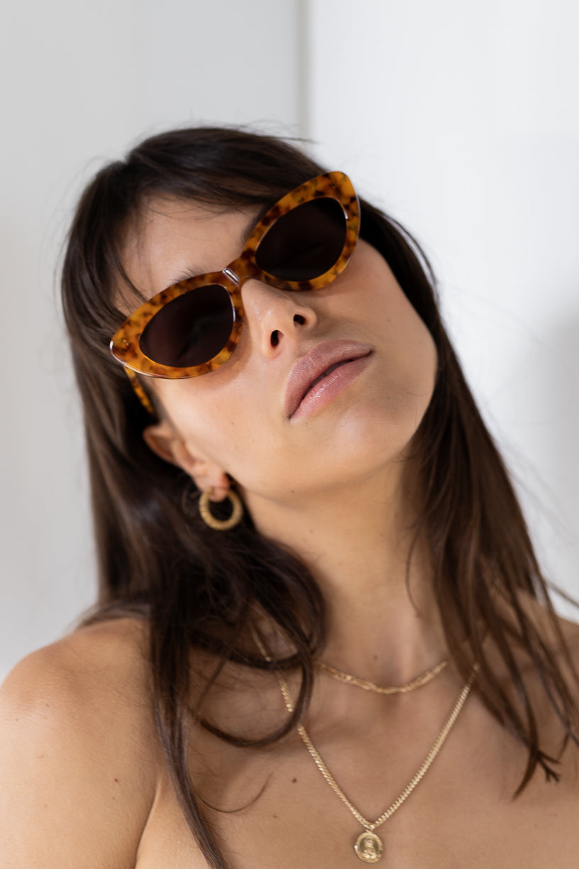 The Harley, Orange Tort - Women's Sunglasses & Eyewear by Luv Lou