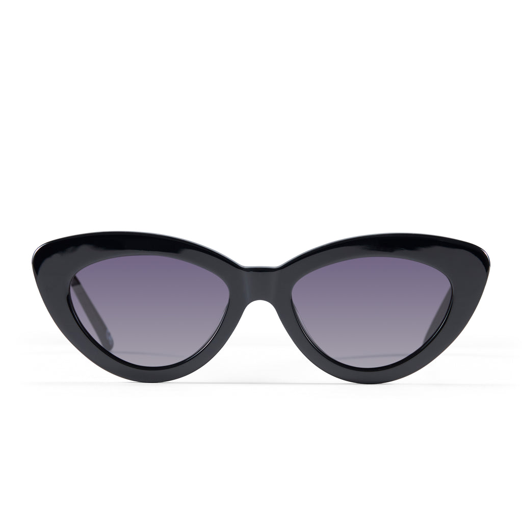 The Harley, Jet Black - Women's Sunglasses & Eyewear by Luv Lou