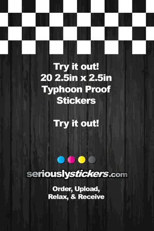 "Try it Out- 20 Stickers for $15- 2.5""x2.5"""