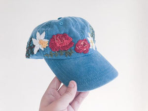 6bd82aa7 Roses & Daffodils Embroidered Hat – Choctaw Tori