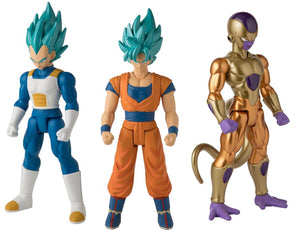 "Dragonball Super 12"" Limit Breaker Series 1 Action Figure Set ~ Golden Frieza, SSGSS Vegeta, SSGSS Goku"