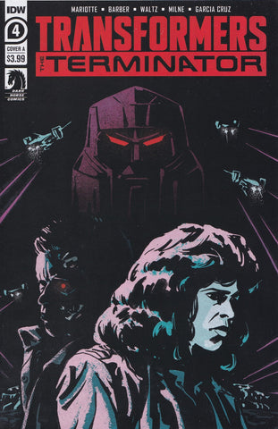 TRANSFORMERS vs. TERMINATOR #4 (COVER A FULLERTON VARIANT) COMIC BOOK ~ IDW