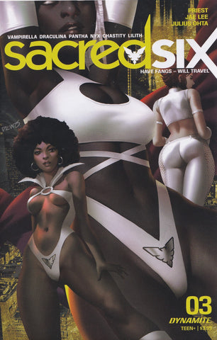 SACRED SIX #3 (DERRICK CHEW VARIANT) COMIC BOOK ~ Dynamite Entertainment