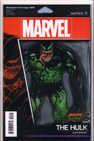 ABSOLUTE CARNAGE #4 (VENOM-HULK ACTION FIGURE VARIANT) COMIC BOOK ~ Marvel Comics