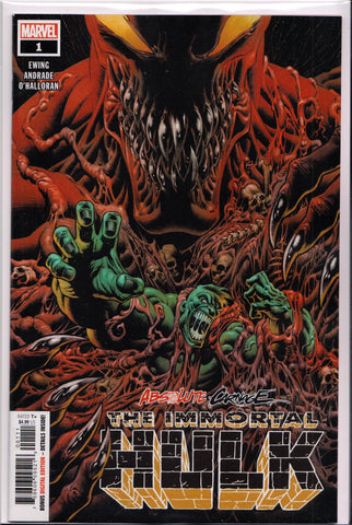 ABSOLUTE CARNAGE: IMMORTAL HULK #1 COMIC BOOK ~ Marvel Comics