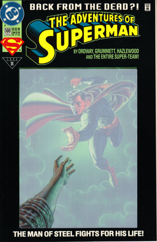 ADVENTURES OF SUPERMAN #500 (ENHANCED) COMIC BOOK ~ DC Comics
