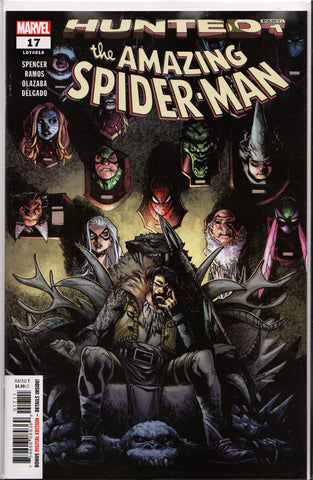 AMAZING SPIDER-MAN #17 (HUNTED PART 1) COMIC BOOK ~ Marvel Comics