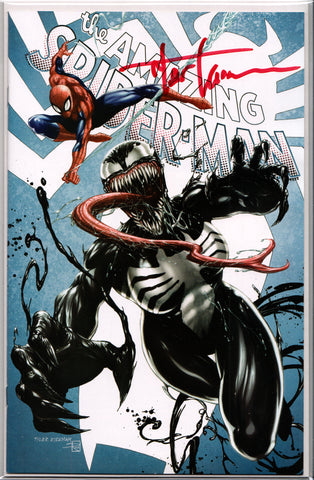 AMAZING SPIDER-MAN #15C (TYLER KIRKHAM SIGNED/EXCLUSIVE COVER) ~ Marvel Comics
