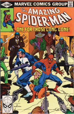 AMAZING SPIDER-MAN #202 COMIC BOOK ~ Punisher Appearance ~ Marvel Comics