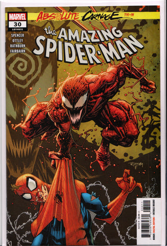 AMAZING SPIDER-MAN #30 (ABSOLUTE CARNAGE TIE-IN) COMIC BOOK ~ Marvel Comics