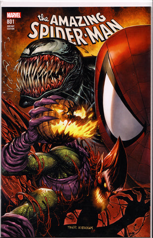 AMAZING SPIDER-MAN #801 (TYLER KIRKHAM EXCLUSIVE VARIANT COVER) COMIC BOOK ~ Marvel Comics