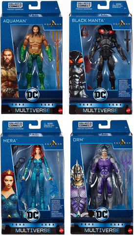 "DC Multiverse 6"" AQUAMAN WAVE 1 ACTION FIGURE SET ~ Orm, Mera, Black Manta+"