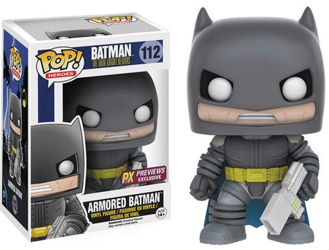 Funko POP! DC Heroes ~ ARMORED BATMAN (COMIC VERSION) VINYL FIGURE PX EXCLUSIVE