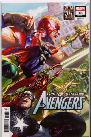 AVENGERS #18 (MARVELS 25TH ANNIVERSARY ALEX ROSS VARIANT) COMIC BOOK ~ Marvel Comics