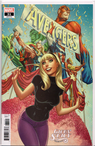 AVENGERS #31 (JSC GWEN STACY VARIANT) COMIC BOOK ~ Marvel Comics