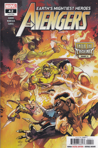 AVENGERS #42 (YU VARIANT)(ENTER THE PHOENIX)(2021) COMIC BOOK ~ Marvel Comics