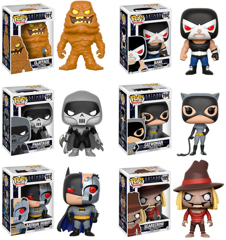 Funko POP! DC Heroes ~ BATMAN THE ANIMATED SERIES WAVE 2 SET ~ Catwoman, Bane++