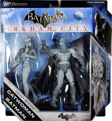 Batman Legacy - BATMAN & CATWOMAN (B&W VERSIONS) - ARKHAM CITY / ASYLUM ORIGIN