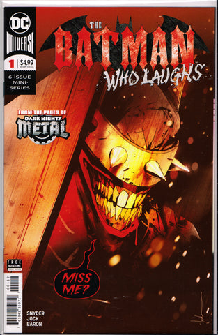 BATMAN WHO LAUGHS #1 (2ND PRINT RED VARIANT)(JOCK COVER) ~ DC Comics
