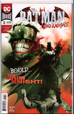 BATMAN WHO LAUGHS #2 (2ND PRINT RED VARIANT)(JOCK COVER) ~ DC Comics