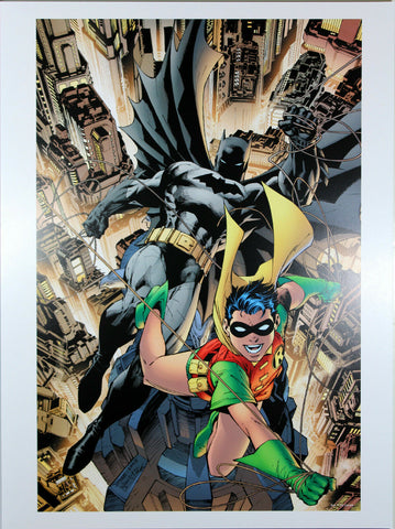 "ALL-STAR BATMAN & ROBIN #1 ART PRINT by Jim Lee ~ 12"" x 16"" ~ Great Condition"