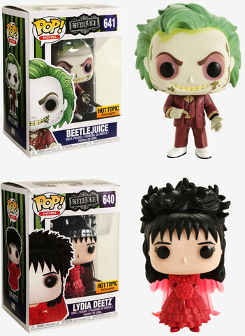 Funko POP! Movies ~ BEETLEJUICE FIGURE SET ~ Beetlejuice & Lydia Deetz HT Exclusives