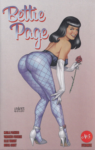 BETTIE PAGE #5 (JOSEPH LINSNER VARIANT COVER) COMIC ~ Dynamite Entertainment