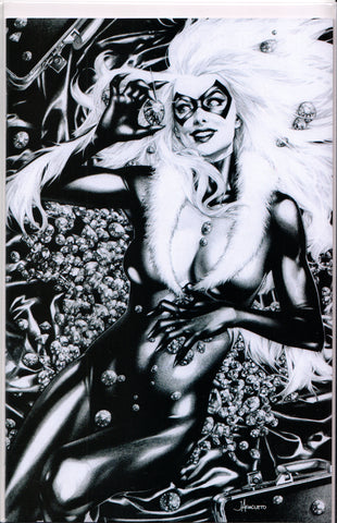 BLACK CAT #1 (JAY ANACLETO B&W VARIANT) COMIC BOOK ~ Marvel Comics