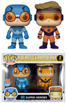 Funko POP! DC Heroes ~ BLUE BEETLE & BOOSTER GOLD PX EXCLUSIVE FIGURE SET ~ JL