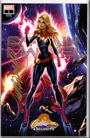 CAPTAIN MARVEL #1 (COVER A) ~ SIGNED BY J. SCOTT CAMPBELL ~ w/Certificate of Authenticity
