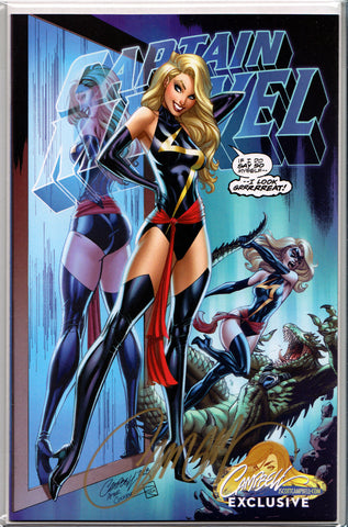 CAPTAIN MARVEL #1 (COVER B) ~ SIGNED BY J. SCOTT CAMPBELL ~ w/Certificate of Authenticity